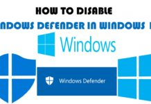 How to disable Windows Defender completely step by step