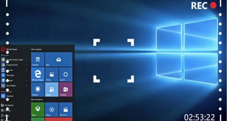 How to record the desktop or laptop screen in Windows 10
