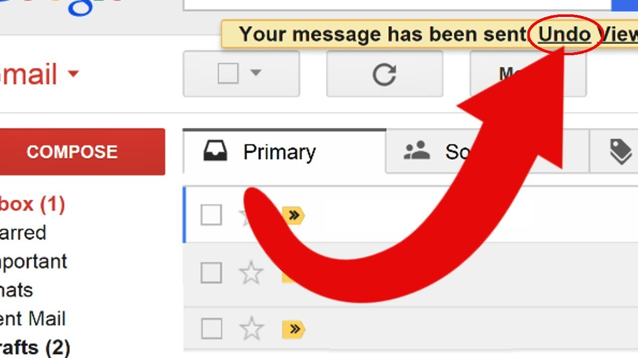 How To Cancel An Already Sent Message In Gmail?