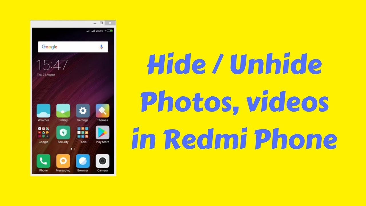 How to Hide Photos, Videos and Files on a Xiaomi Smartphone