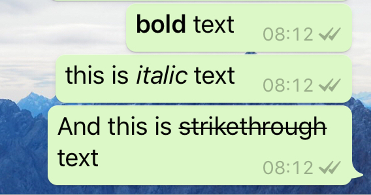 Here's How To Bold Fonts On WhatsApp