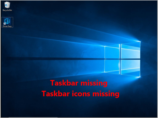 How To Display The Missing Taskbar Icon On Windows 10