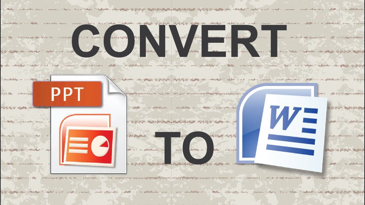 How To Change Powerpoint Files To MS Word