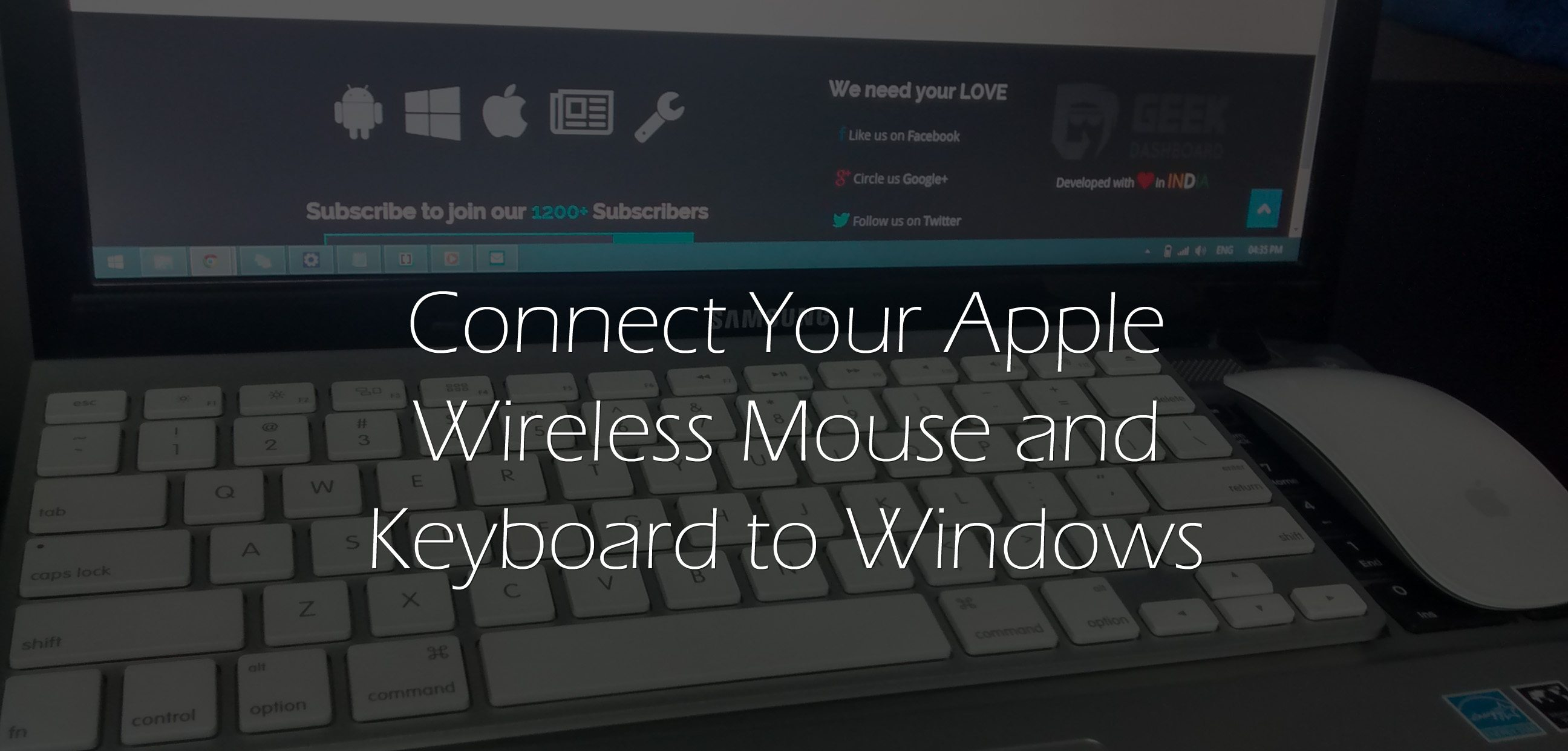 Use Apple Wireless Keyboard On Windows