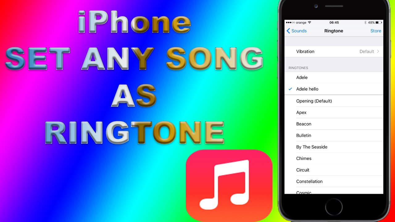 How to convert any song into an iPhone ringtone?