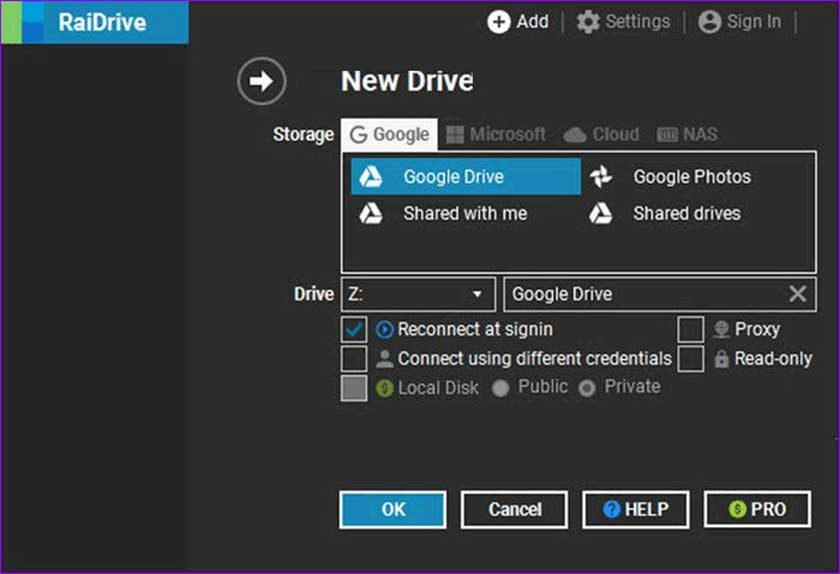 How to Configure RaiDrive for Mapping Network Drive
