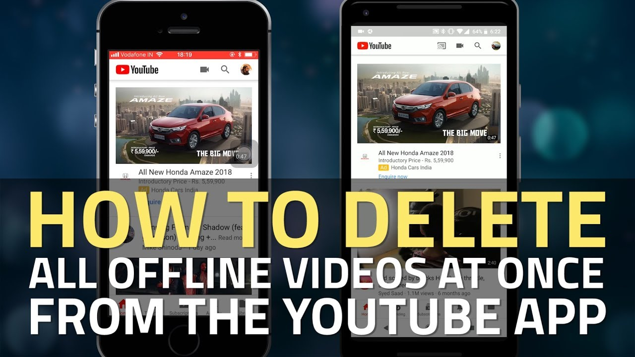 How To Delete All Videos Offline From YouTube Application On Android And IPhone