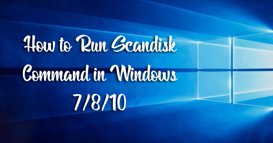 How to Use Microsoft ScanDisk?