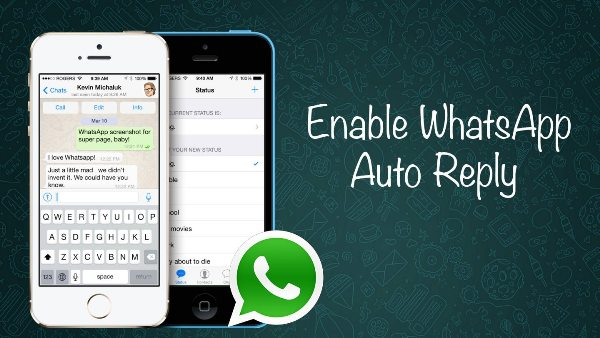 How To Send Automatic Replies on WhatsApp