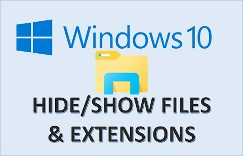 Show File Extensions And Hidden Files in Windows 10