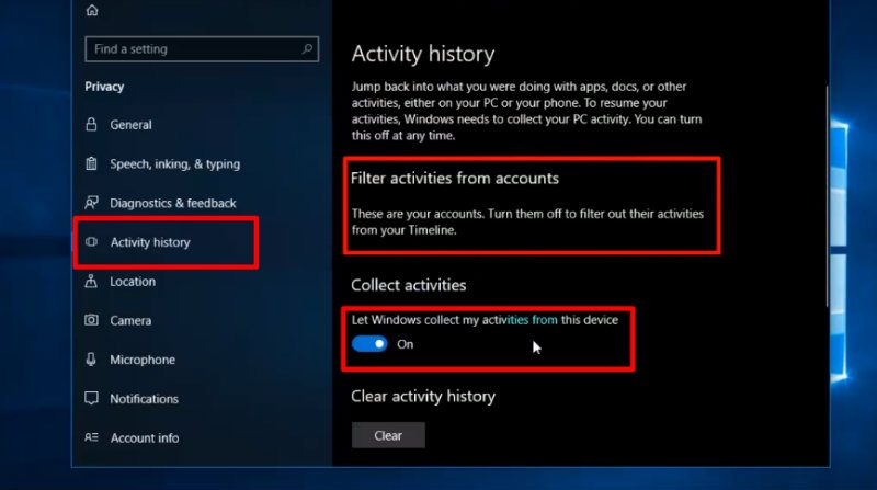 How To View your Chrome or Firefox activities in the Windows 10 Timeline