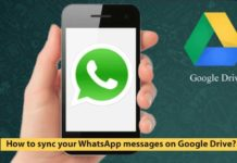 How to sync your WhatsApp messages on Google Drive?