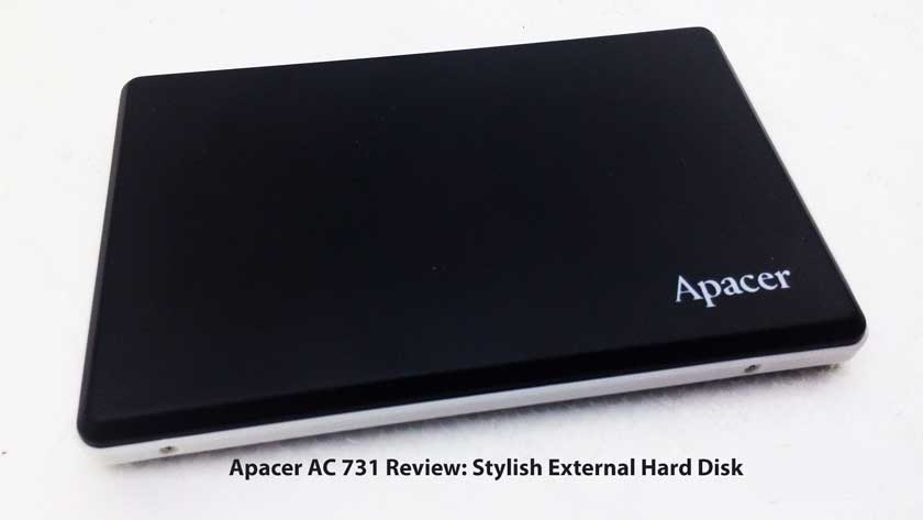 Apacer AC 731 Review: Stylish External Hard Disk, Military Class Feature