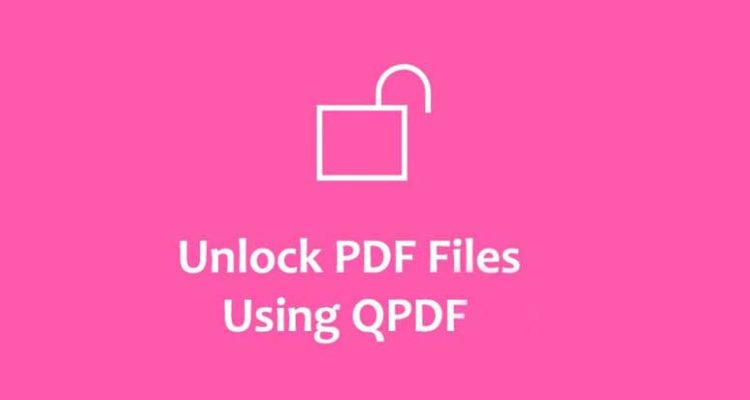 Remove the protection of a pdf with Qpdf