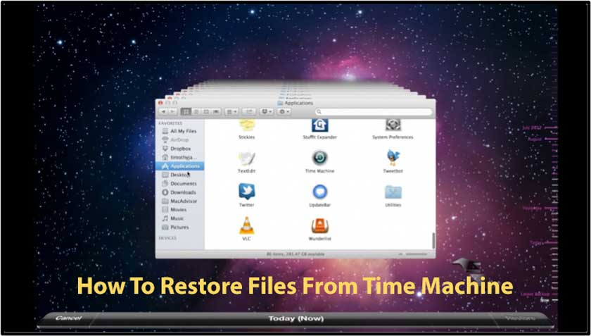 How To Restore Files From Time Machine