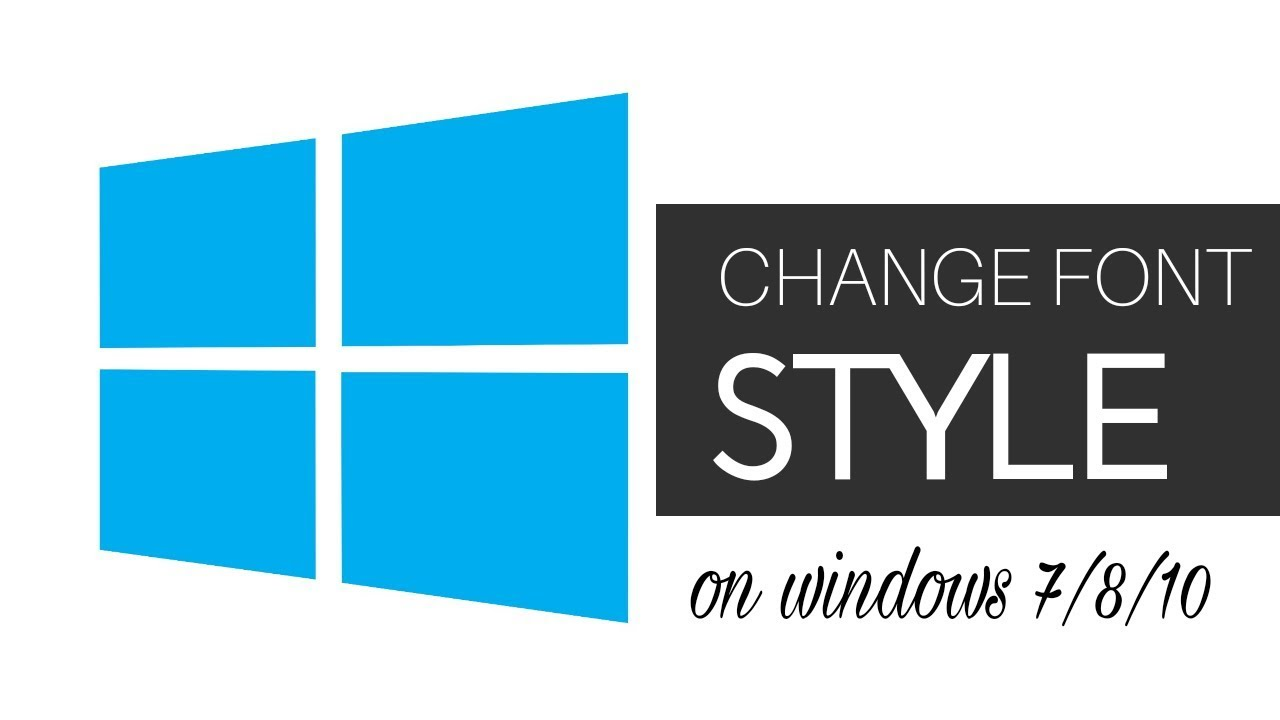 How to Change Fonts in Windows 8 and 10