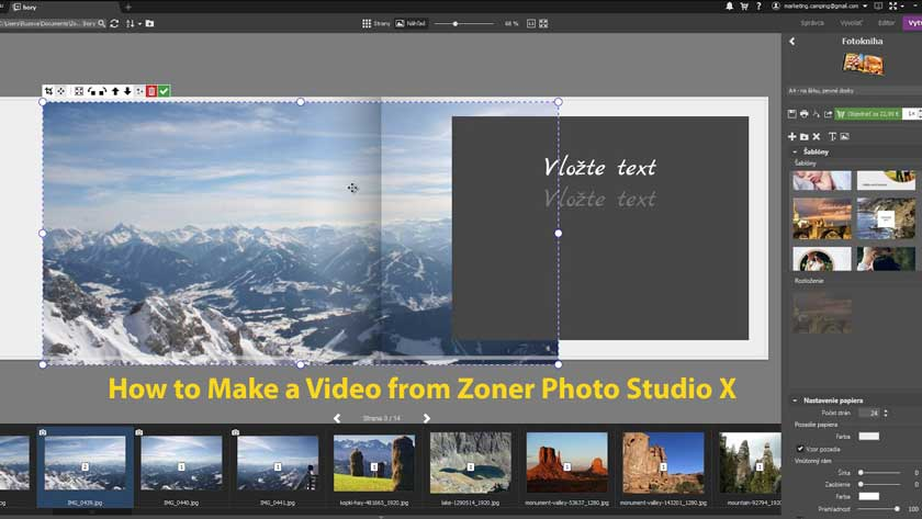 How to Make a Video from Zoner Photo Studio X