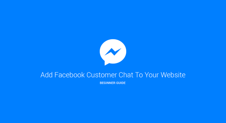 How to install the Facebook Messenger Customer Chat plugin on its website?