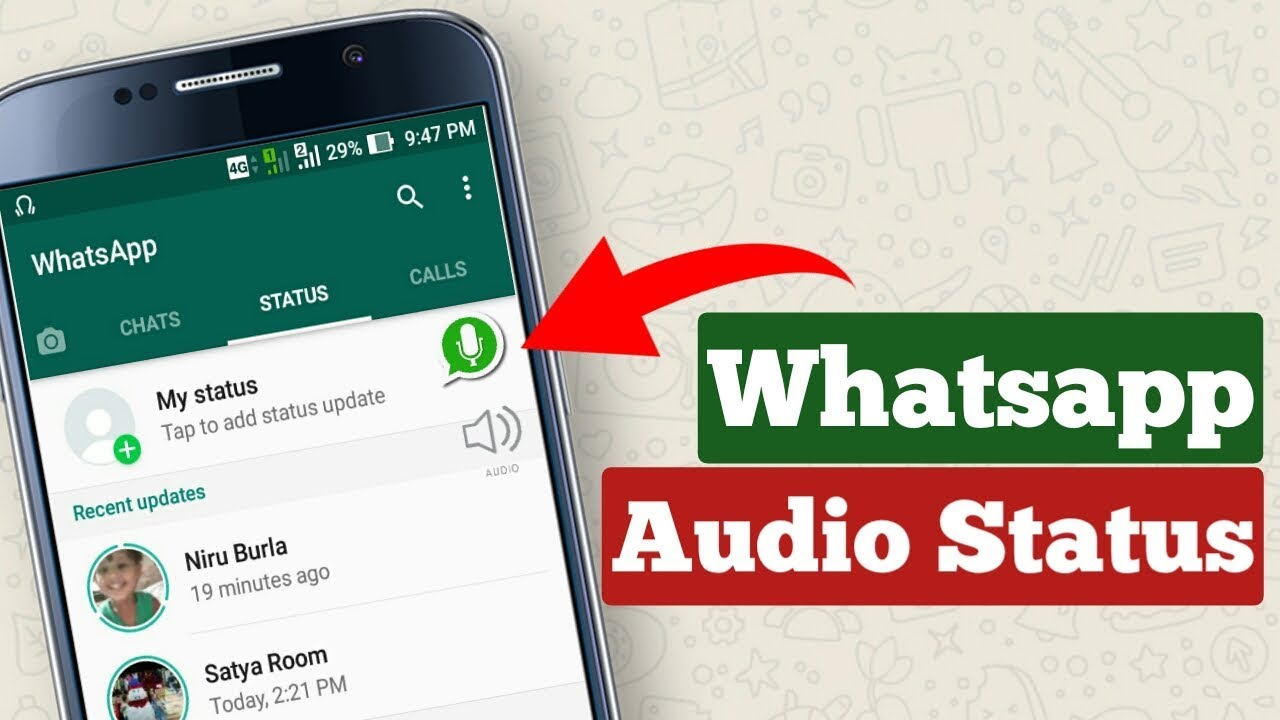 How To Put An Audio Song In Whatsapp Status Instagram