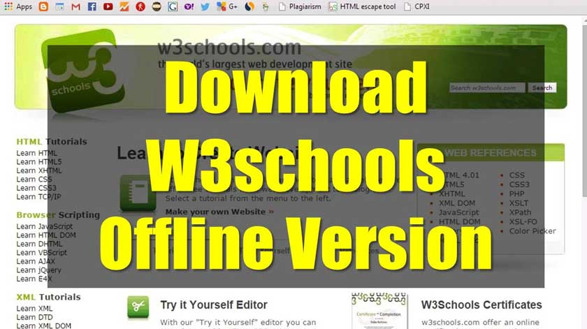How to Download and Access Complete Offline W3Schools