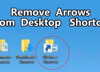 How to Remove Arrows From Shortcuts on Desktop