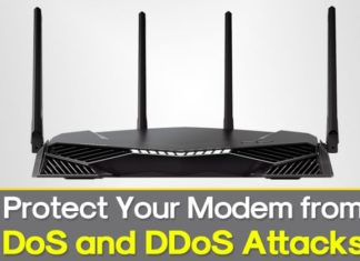 How to protect your modem against DoS and DDoS attacks