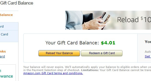 Use a gift card