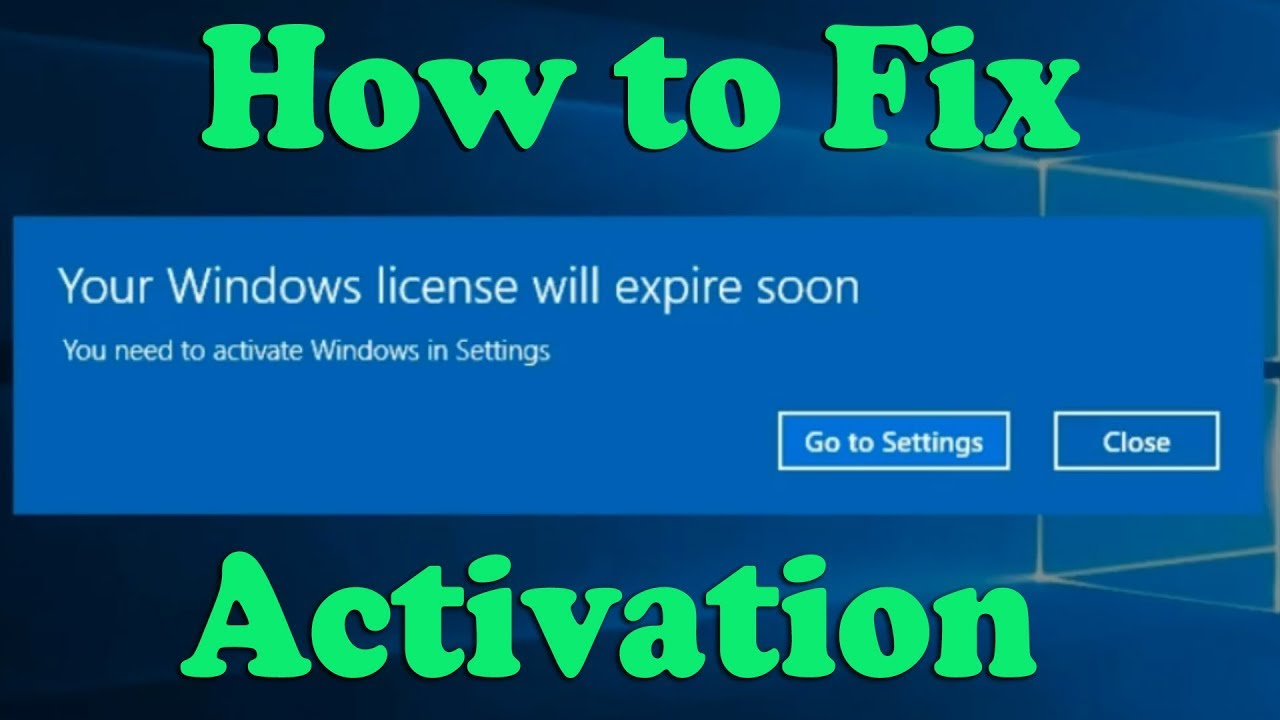 How to Quickly Resolve Windows 10 Expired