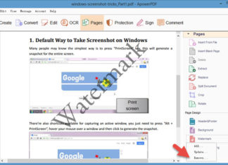 How to quickly Create a Watermark in PDF without or using Free Software
