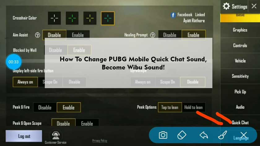 How To Change PUBG Mobile Quick Chat Sound, Become Wibu Sound!