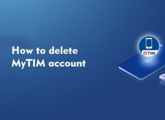 How to delete MyTIM account