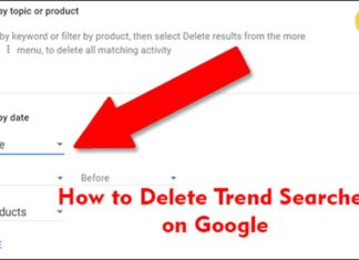 How to Delete Trend Searches on Google