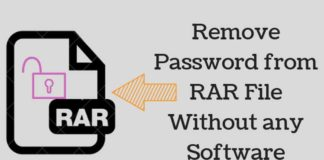 How to Remove a Password from a RAR file without software