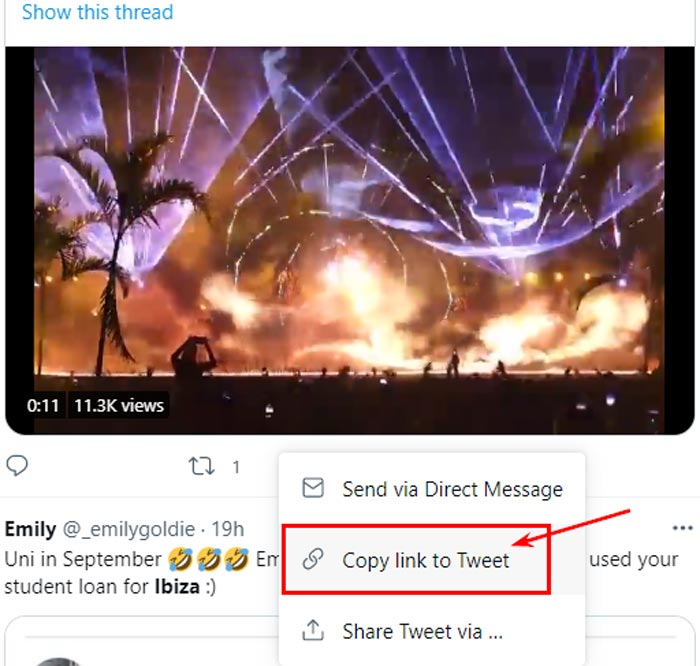 Save Videos From Twitter