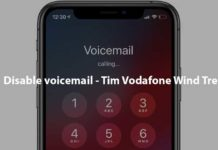 Disable voicemail - Tim Vodafone Wind Tre