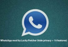 WhatsApp mod by Lucky Patcher (hide privacy + 10 features)