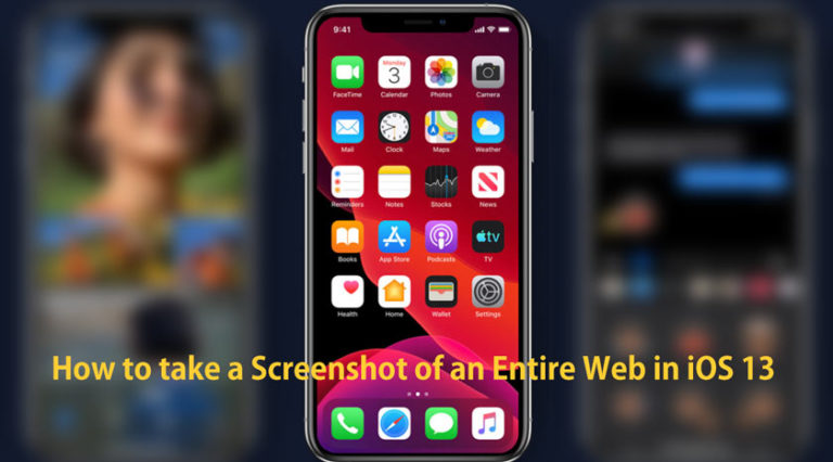 How to take a Screenshot of an Entire Web in iOS 13