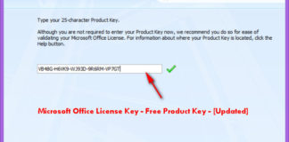 Microsoft Office License Key - Free Product Key - [Updated]