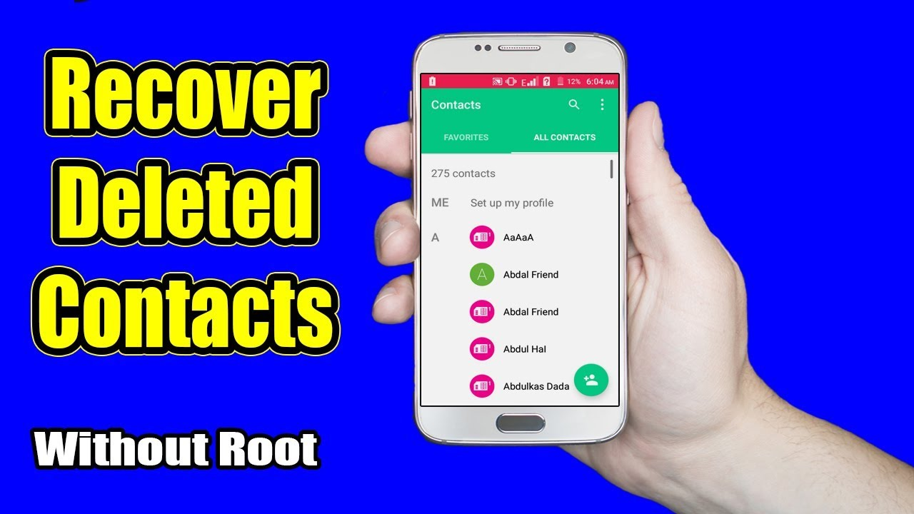 How to Recover Deleted Contacts and Call Logs on Android