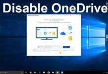 How to Disable OneDrive in Window 10