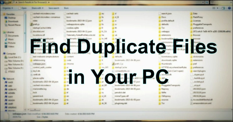 How to Find and Delete Duplicate Files in the Computer