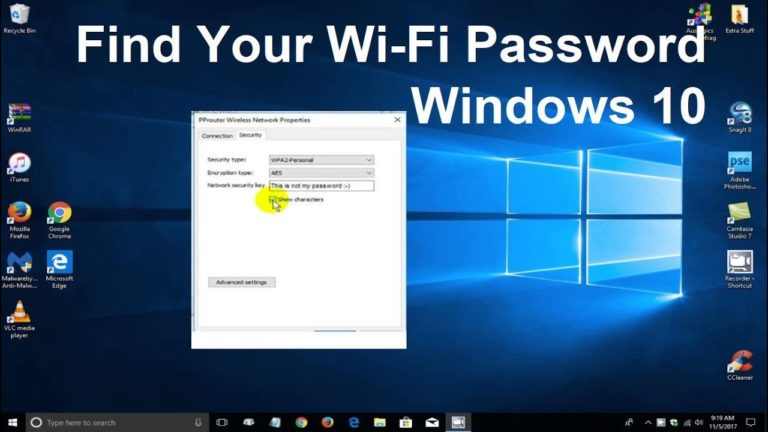How to Find the WiFi Password in window 10