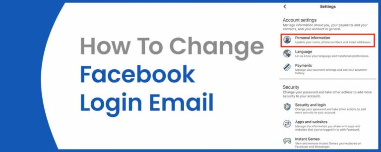 How to Change Facebook E Mail?
