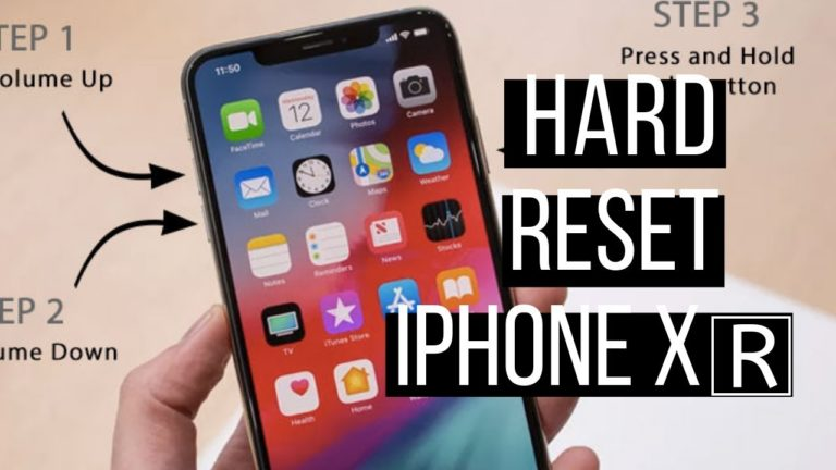 How to Make a Hard Reset to iPhone XR