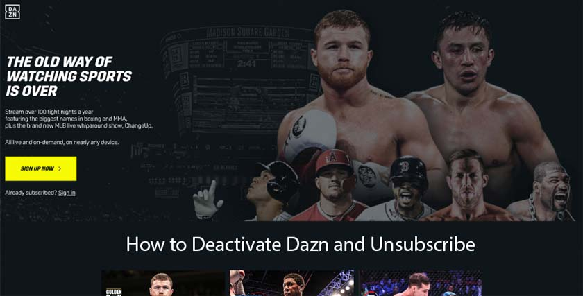 How to Deactivate Dazn and Unsubscribe