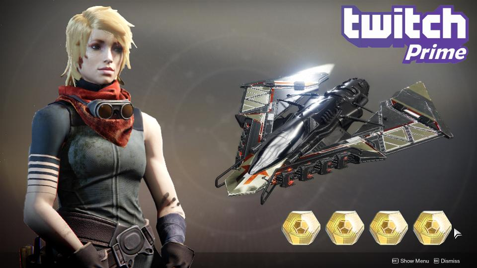 Twitch Prime Gives Players of Destiny 2 Exotic Weapons