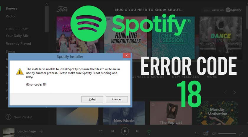 How to Fix Spotify 18 Error Code Issue