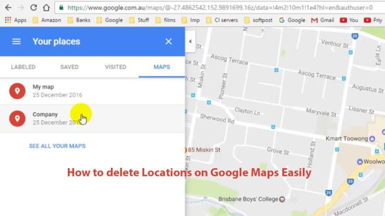 How to delete Locations on Google Maps Easily