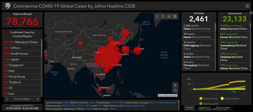 Here is the Coronavirus Updated LIVE Map