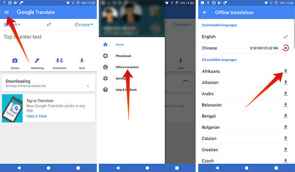 How to Use the Google Translation Offline